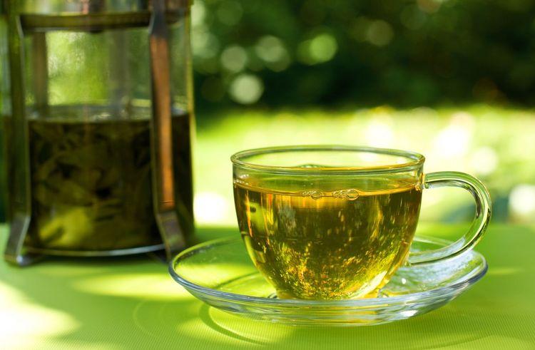 Крупкий зеленый чай при крапивнице у собак