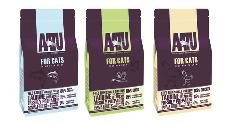 Ассортимент сухого корма для кошек Аату